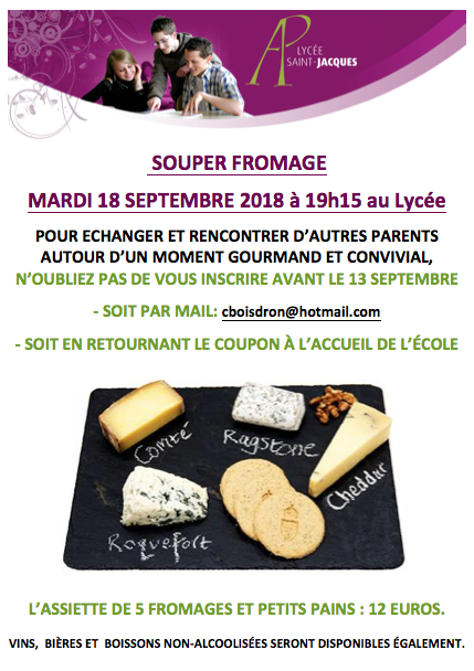Affiche souper fromage